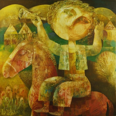 The Boy on the Red Horse, an art piece by Seyran Gasparyan