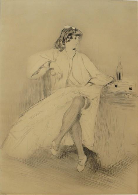 Bianca Moreno, an art piece by Edgar Chahine (1874-1947)