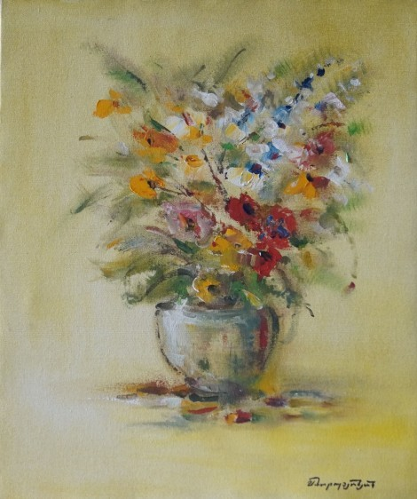 Flowers in Vase, an art piece by Samvel Harutyunyan