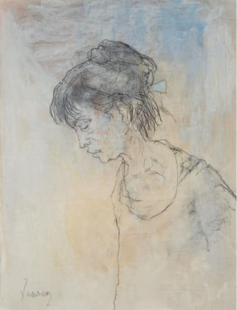 ADELITA AU PROFIL, an art piece by Jean Jansem (1920 – 2013)