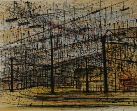 Lyon, Gare De Triage, an art piece by Jean Carzou