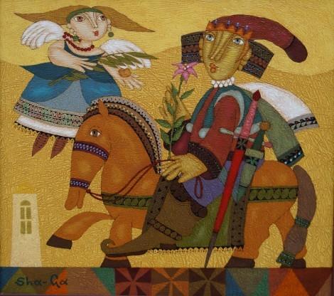 Return of the hero, an art piece by Gagik Shahinyan