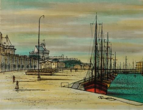 Saint Malo, an art piece by Jean Carzou