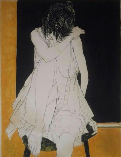 SONIA - ÉTAT OCRE, an art piece by Jean Jansem (1920 – 2013)