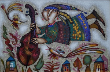 The Magic Musician, an art piece by Gagik Shahinyan