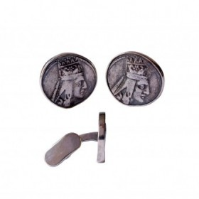 Tigranes The Great Silver Cufflinks, an art piece by Harutyun Karagyan