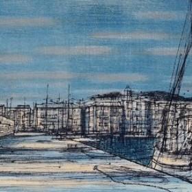 Saint - Tropez, an art piece by Jean Carzou