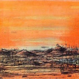 Les Volcans, an art piece by Jean Carzou
