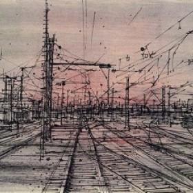 Le Chemin de fer, an art piece by Jean Carzou