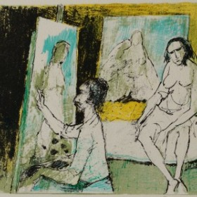 Modèles dans l'atelier, an art piece by Jean Jansem (1920 – 2013)