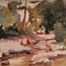 At The River, an art piece by Eduard Isabekyan