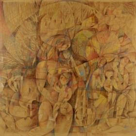 Mother and Child, an art piece by Seyran Gasparyan