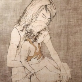 ADORATION, an art piece by Jean Jansem (1920 – 2013)