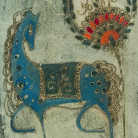 Blue Horse, an art piece by Gohar Edigaryan