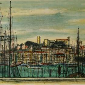Cannes, Le Suquet, an art piece by Jean Carzou