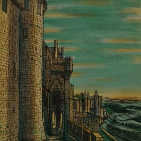 Carcassonne, an art piece by Jean Carzou