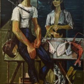 Greek Fisherman, an art piece by Jean Jansem (1920 – 2013)