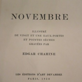 Gustave Flaubert - Novembre, illustrated by Edgar Chahine, an art piece by Edgar Chahine (1874-1947)