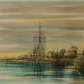 Honfleur: Le Sémaphore, an art piece by Jean Carzou