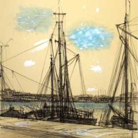 LE PORT, an art piece by Jean Carzou