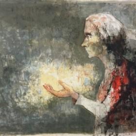 La vieille dame, an art piece by Jean Jansem (1920 – 2013)