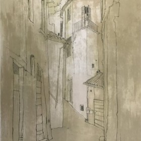 Sovenir dItalie, Todi, an art piece by Jean Jansem (1920 – 2013)