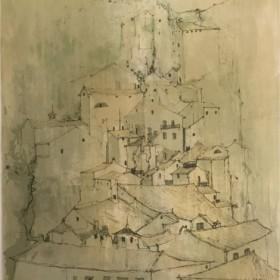 Sovenirs dItalie, Urbino, an art piece by Jean Jansem (1920 – 2013)