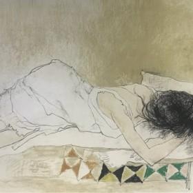 Tapis a losanges, an art piece by Jean Jansem (1920 – 2013)