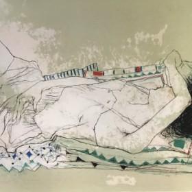 Caroline endorme, an art piece by Jean Jansem (1920 – 2013)