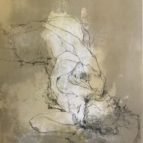 Emma couchee, an art piece by Jean Jansem (1920 – 2013)