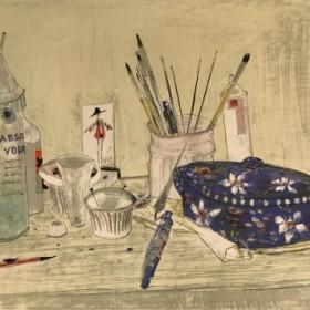 La Soupiere bleue, an art piece by Jean Jansem (1920 – 2013)