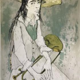 Le clairon, an art piece by Jean Jansem (1920 – 2013)