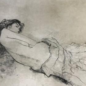 Olivia Couchee, an art piece by Jean Jansem (1920 – 2013)