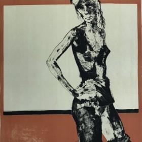 Tunique noir, an art piece by Jean Jansem (1920 – 2013)
