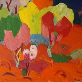 Jajour Landscape, an art piece by Minas Avetisyan (1928 -1975)