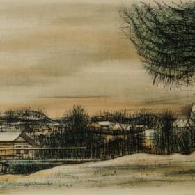 Megève, an art piece by Jean Carzou