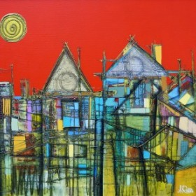 Old Town Tales 1, an art piece by Romeo Avagyan