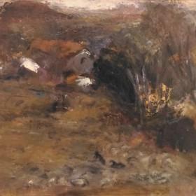 The village, an art piece by Hakob  Grigoryan