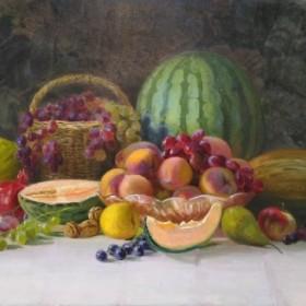 Autumn still life with fruits, an art piece by Gurgen Paronyan