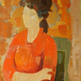 Portrait of a Woman, an art piece by Minas Avetisyan (1928 -1975)