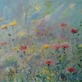 The Flower Day, an art piece by Arayik Asatryan