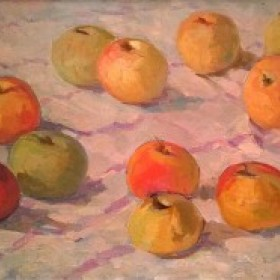 Apples, an art piece by Tsolak Azizyan